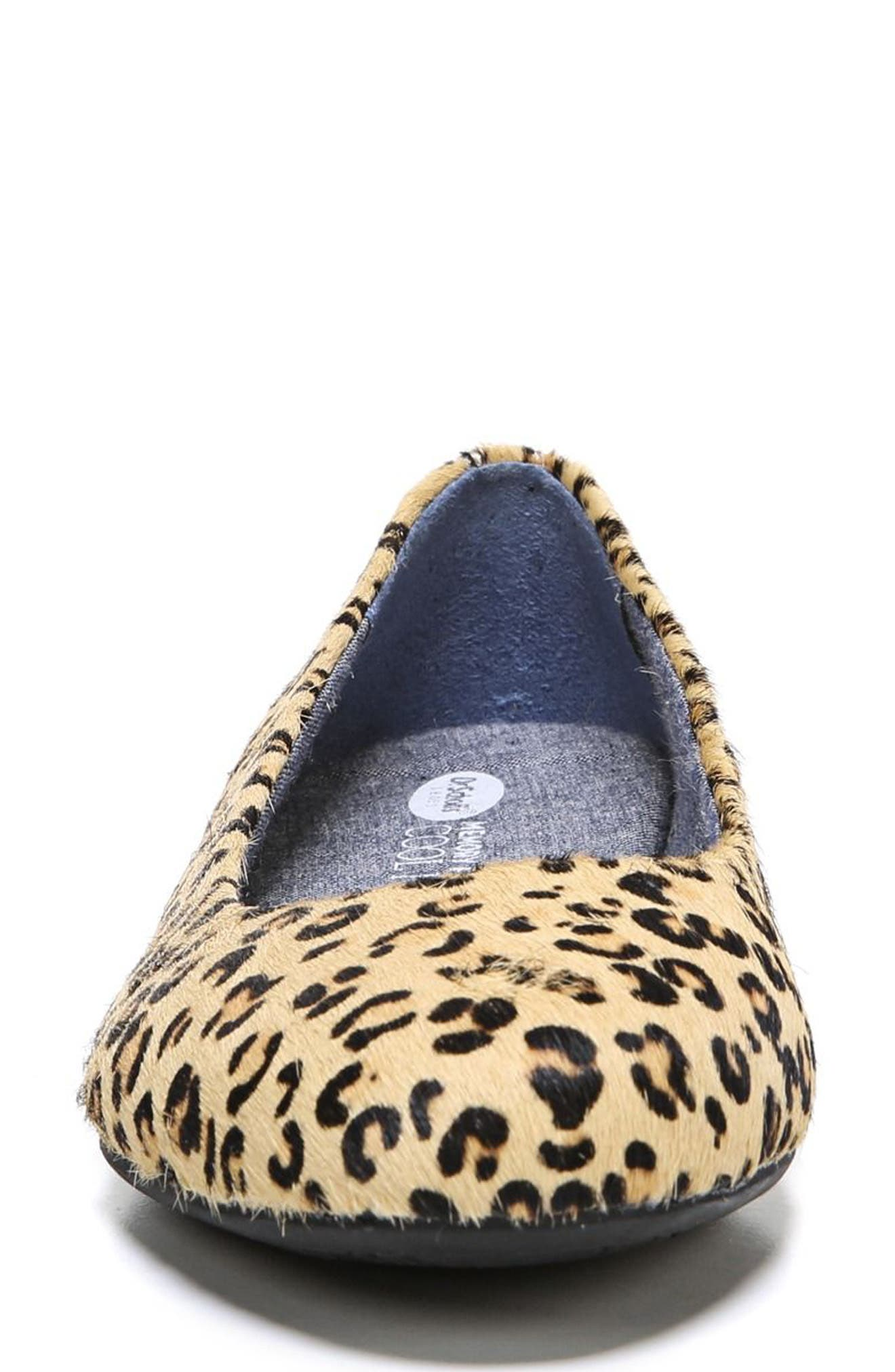 ,                             Giorgie Flat,                             Alternate thumbnail 3, color,                             BLACK LEOPARD CALF HAIR
