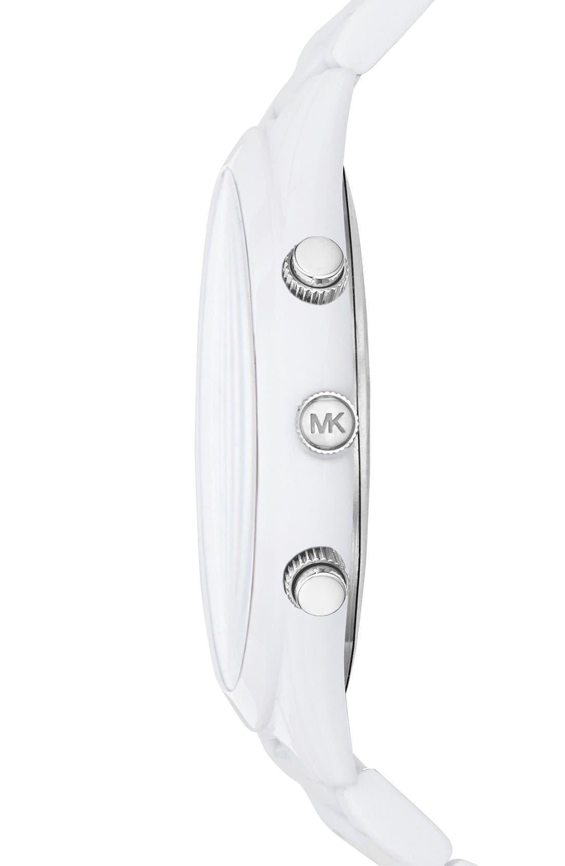 ,                             Michael Kors 'Slim Runway' Chronograph Bracelet Watch, 42mm,                             Alternate thumbnail 8, color,                             100