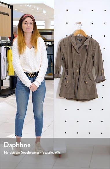 Hooded Cinch Waist Rain Jacket, sales video thumbnail