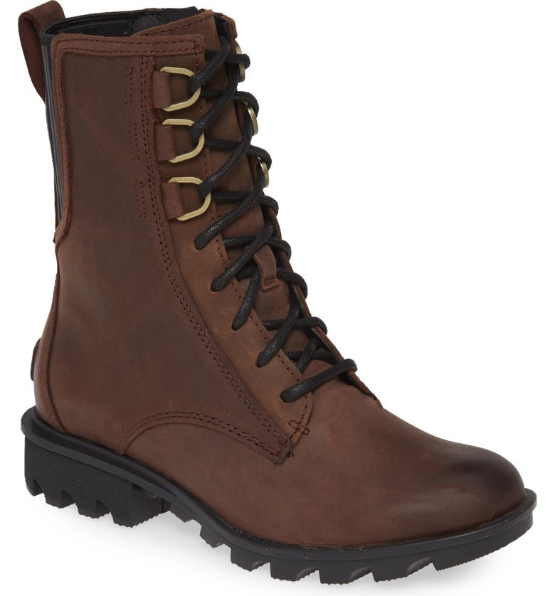 SOREL Phoenix Waterproof Lace-Up Boot, Main, color, CATTAIL LEATHER