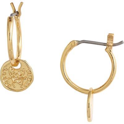 Gorjana Ana Coin Huggie Hoop Earrings