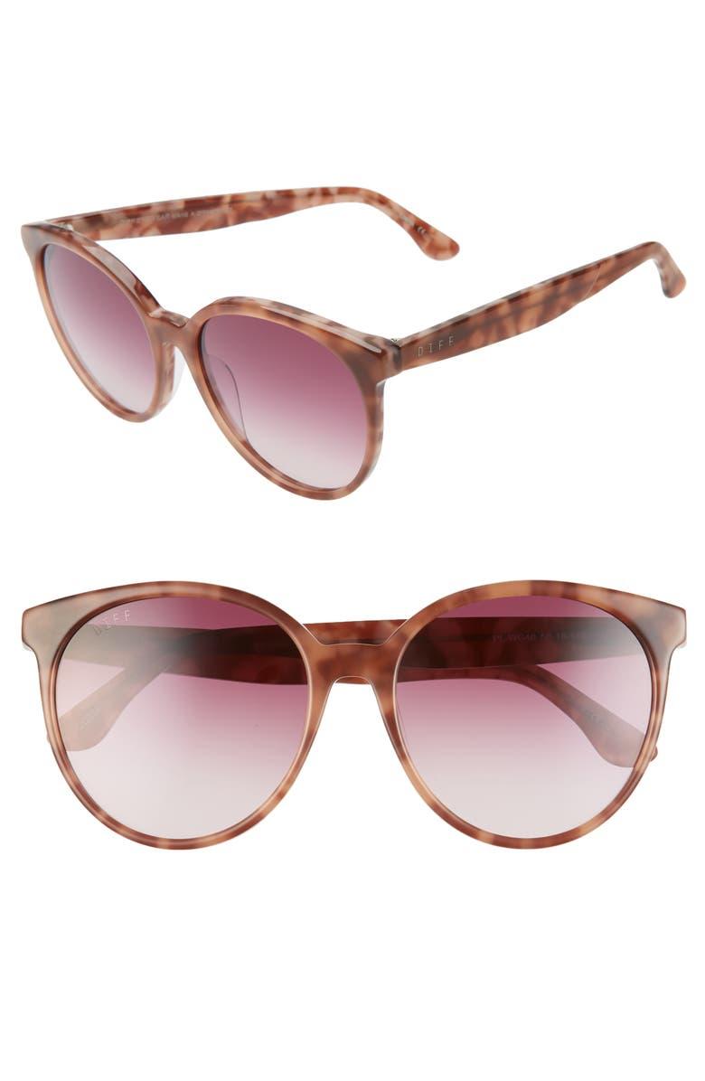 DIFF Cosmo 58mm Gradient Round Sunglasses, Main, color, 500