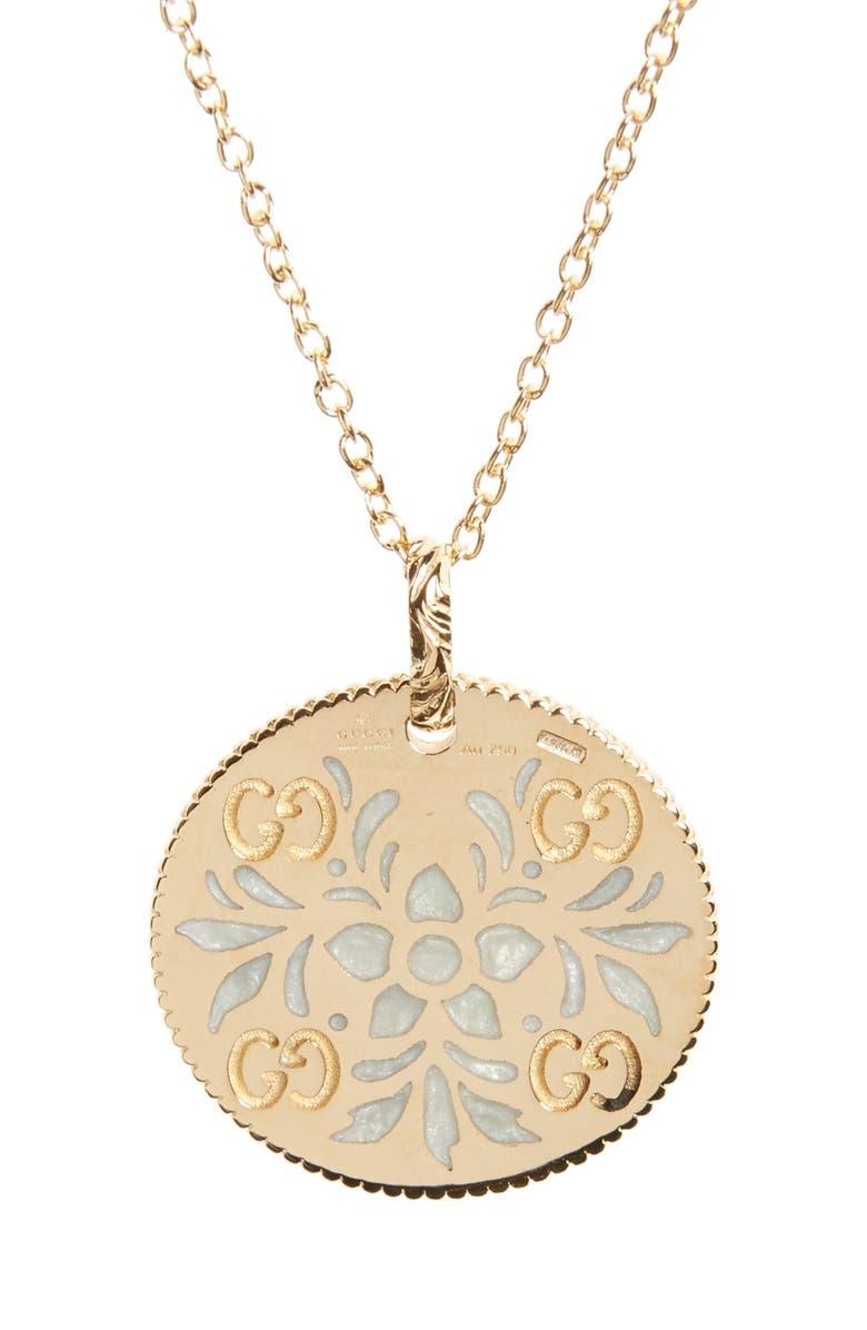 GUCCI Icon Blooms Pendant Necklace, Main, color, 710