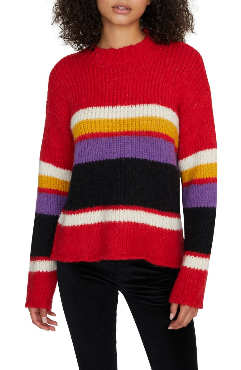 SANCTUARY Party Stripe Sweater, Main, color, PARTY STRIPE