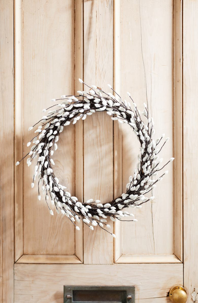 THE WHITE COMPANY Pussy Willow Wreath, Main, color, 250