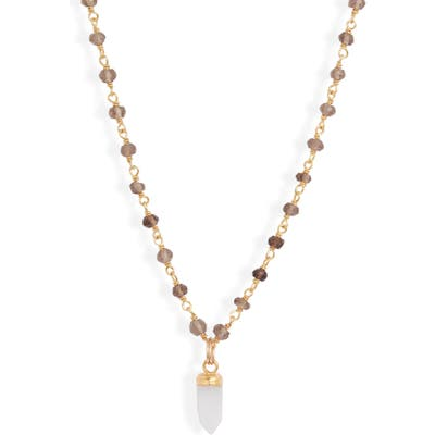 Mend Labradorite & Pyrite Pendant Necklace