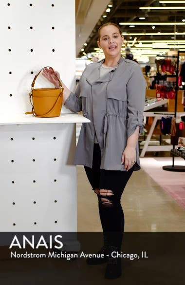 Izzy Faux Leather Bucket Bag, sales video thumbnail