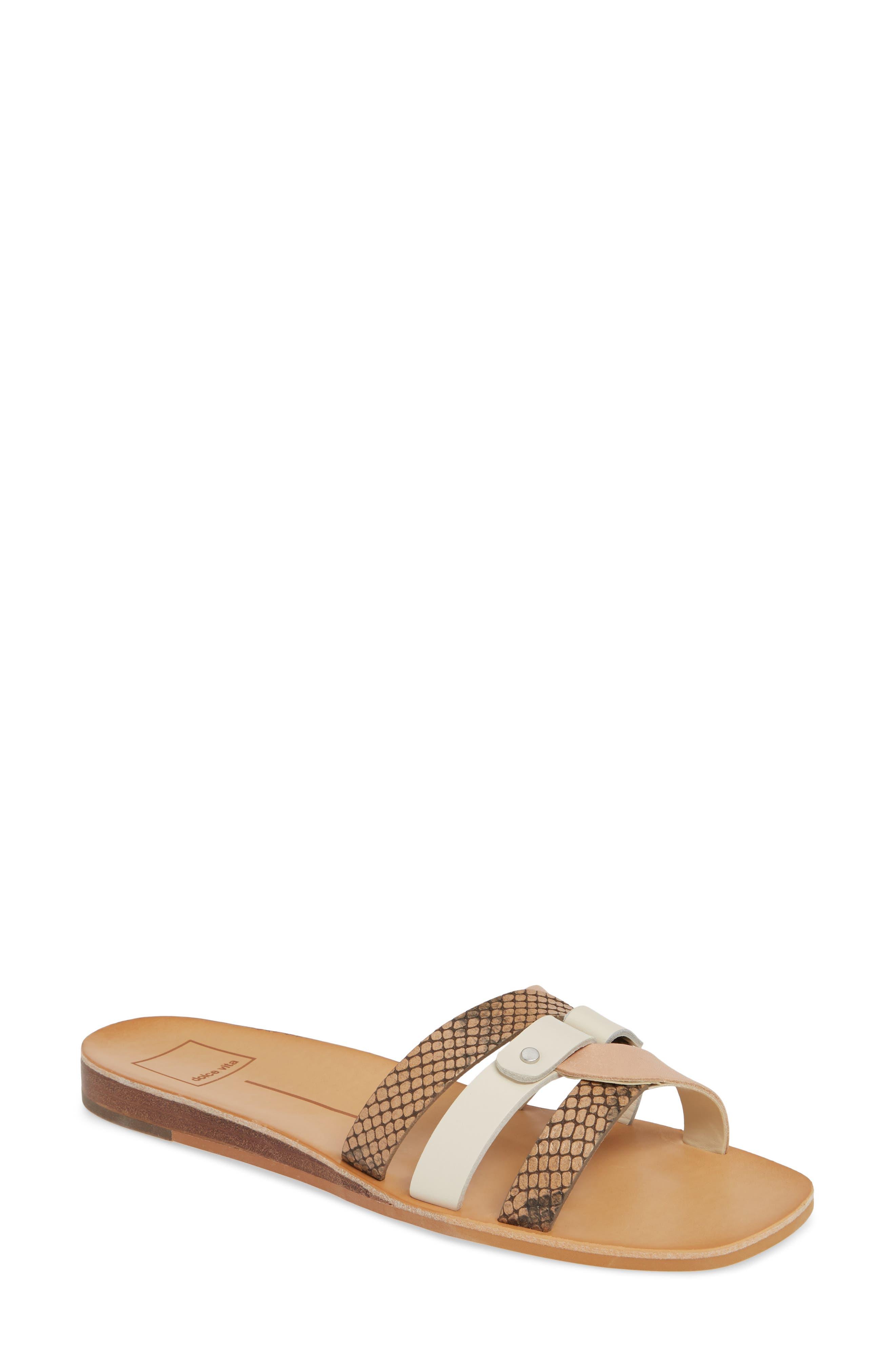 Dolce Vita Cait Slide Sandal, White
