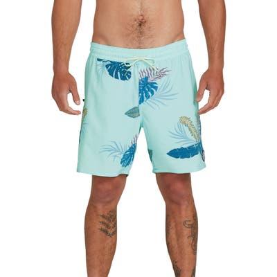 Volcom Bermuda Tropical Swim Trunks, Blue