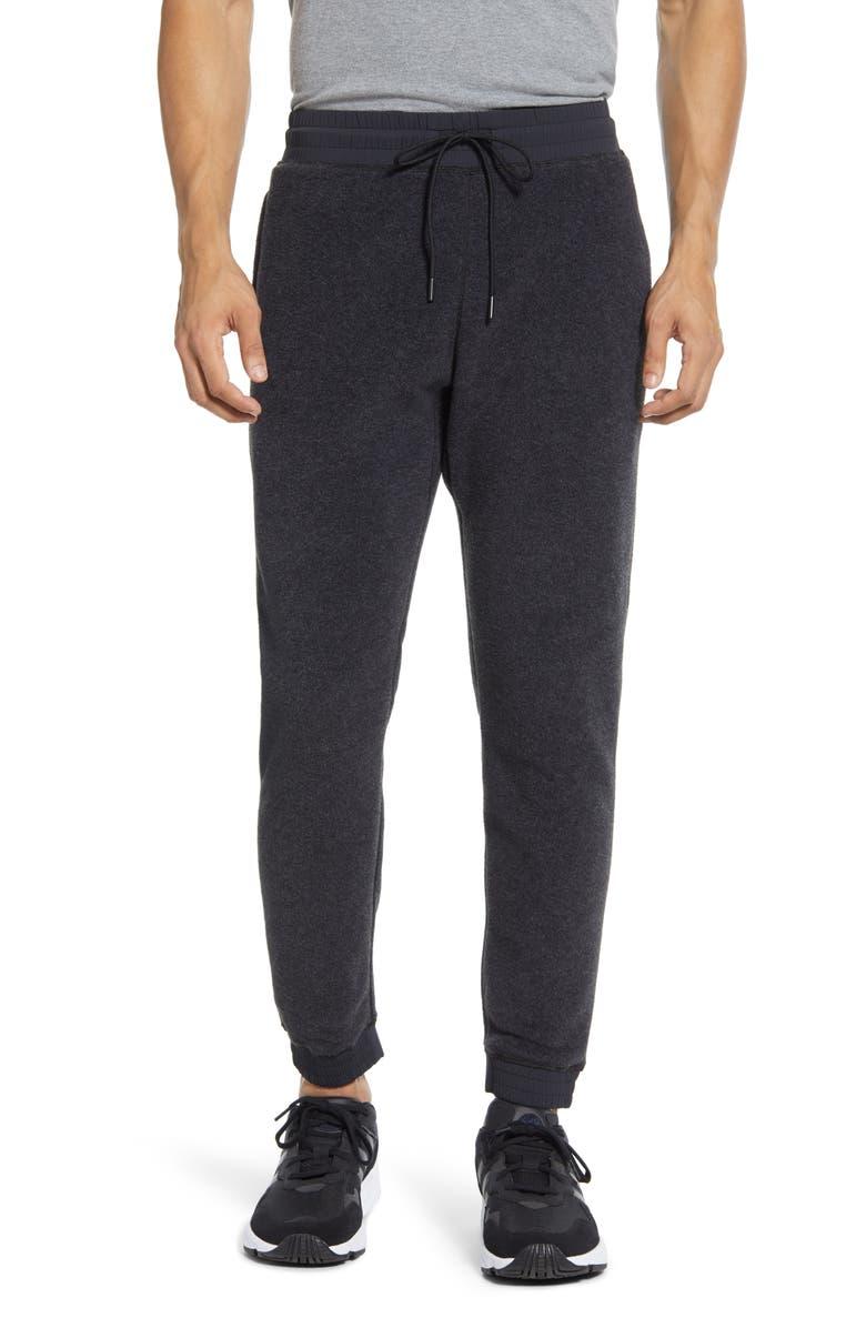 REIGNING CHAMP Polartec<sup>®</sup> Fleece Water Repellent Sweatpants, Main, color, CHARCOAL