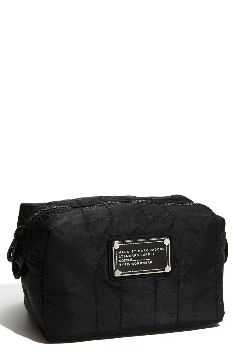 MARC JACOBS MARC BY MARC JACOBS 'Pretty Nylon - Small' Cosmetics Bag, Main, color, 001