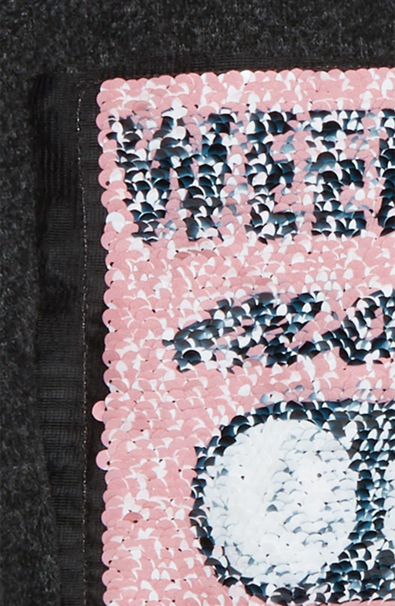 ,                             Weekend Mode Flip Sequin Fleece Top,                             Alternate thumbnail 3, color,                             031