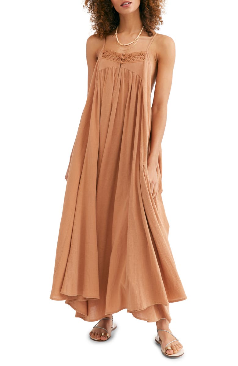 FREE PEOPLE Endless Summer by Free People Mancora Maxi Dress, Main, color, COCOA