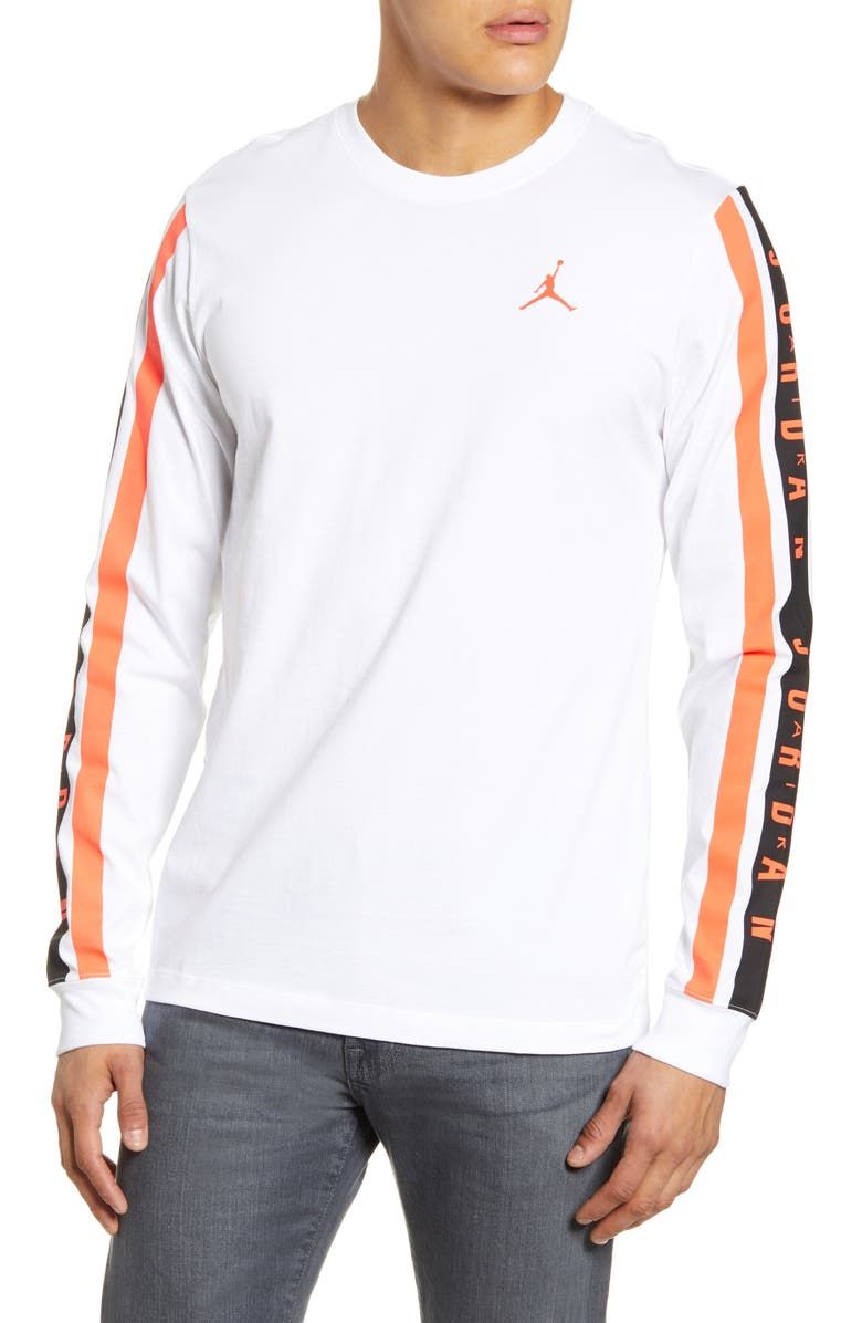 JORDAN Air Long Sleeve T-Shirt, Main, color, WHITE
