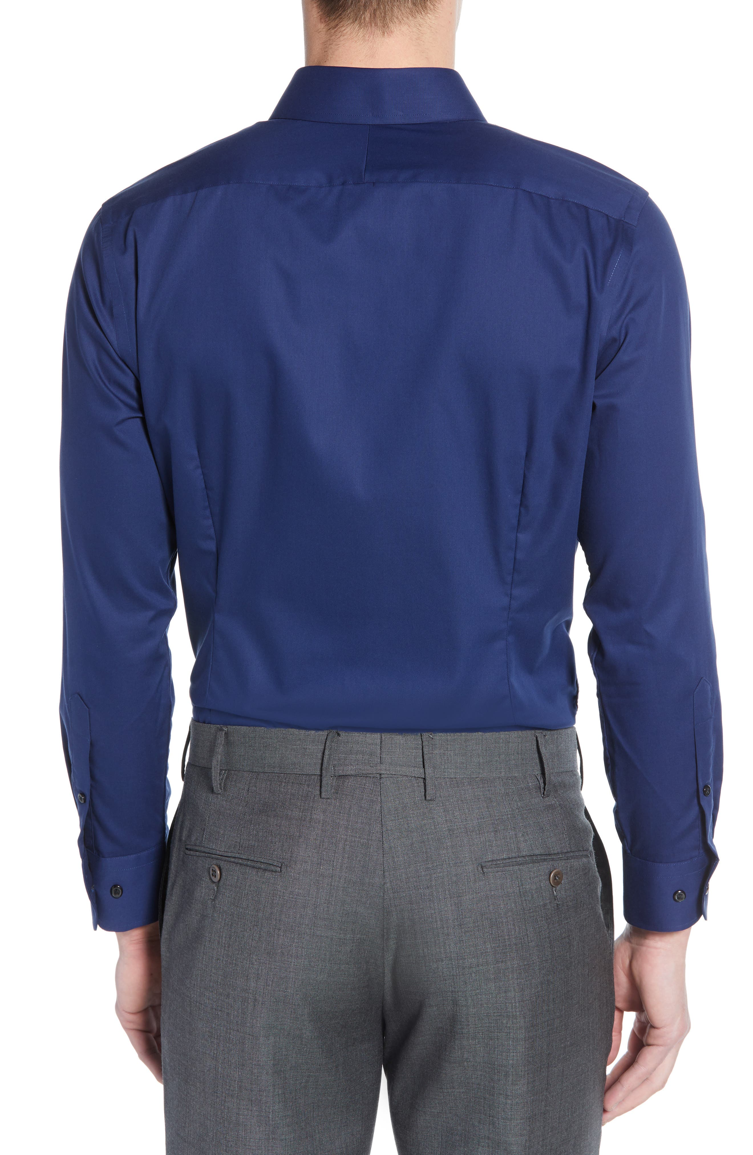 ,                             Extra Trim Fit Non-Iron Solid Dress Shirt,                             Alternate thumbnail 15, color,                             410