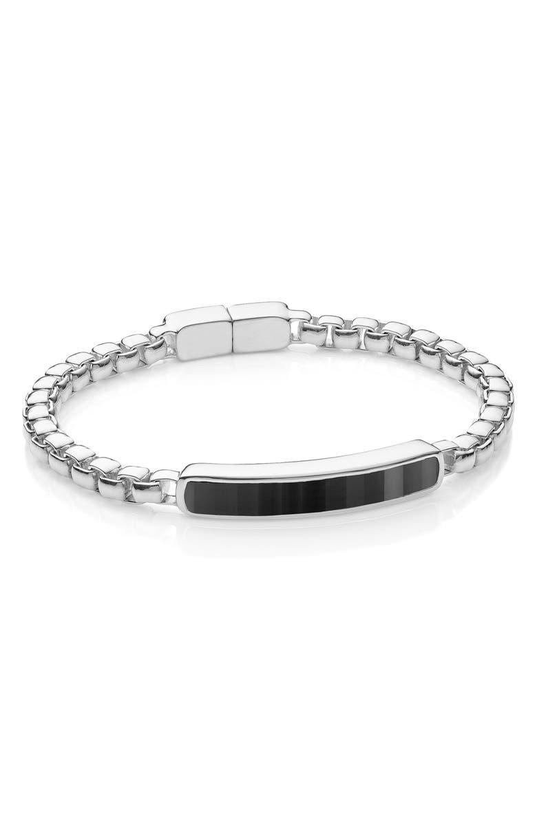 MONICA VINADER Baja Stone Bracelet, Main, color, SILVER/ BLACK ONYX