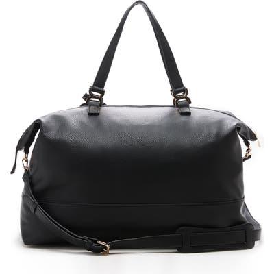 Sole Society Elfie Faux Leather Duffle Bag - Black