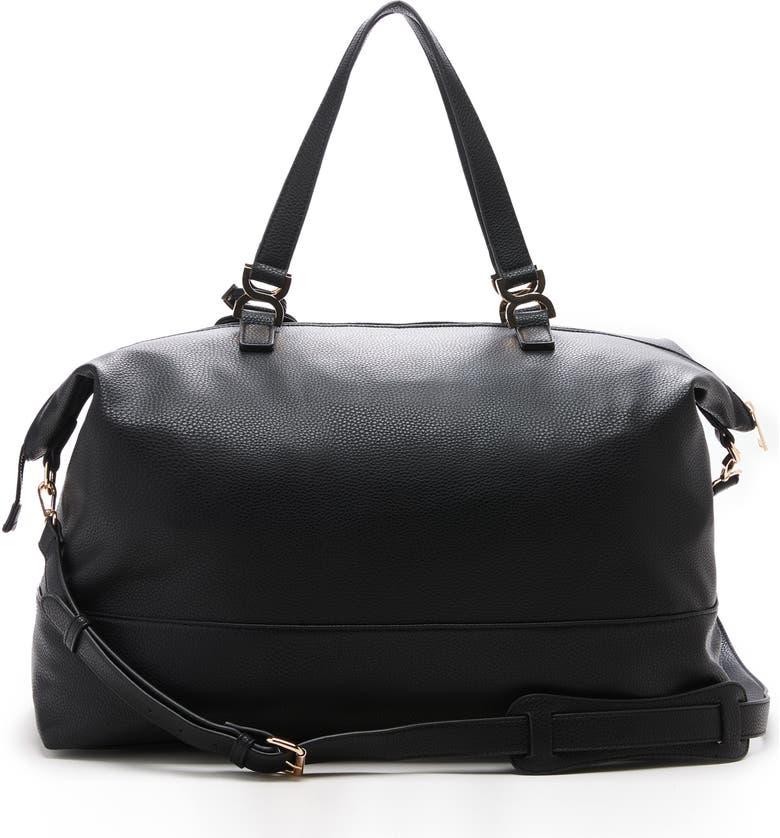 SOLE SOCIETY Elfie Faux Leather Duffle Bag, Main, color, 001