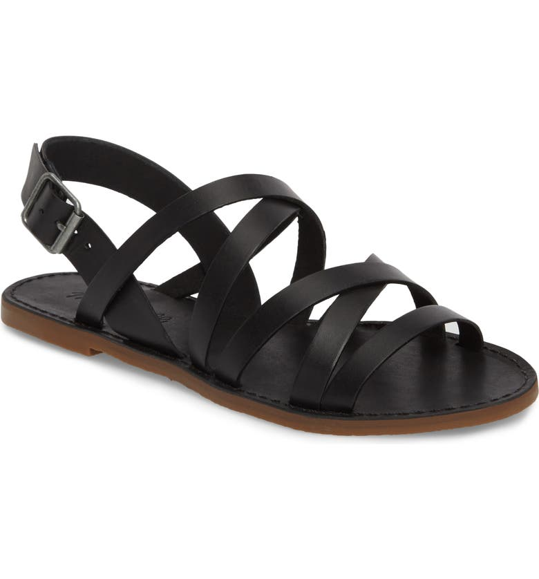 MADEWELL The Boardwalk Multistrap Sandal, Main, color, 001