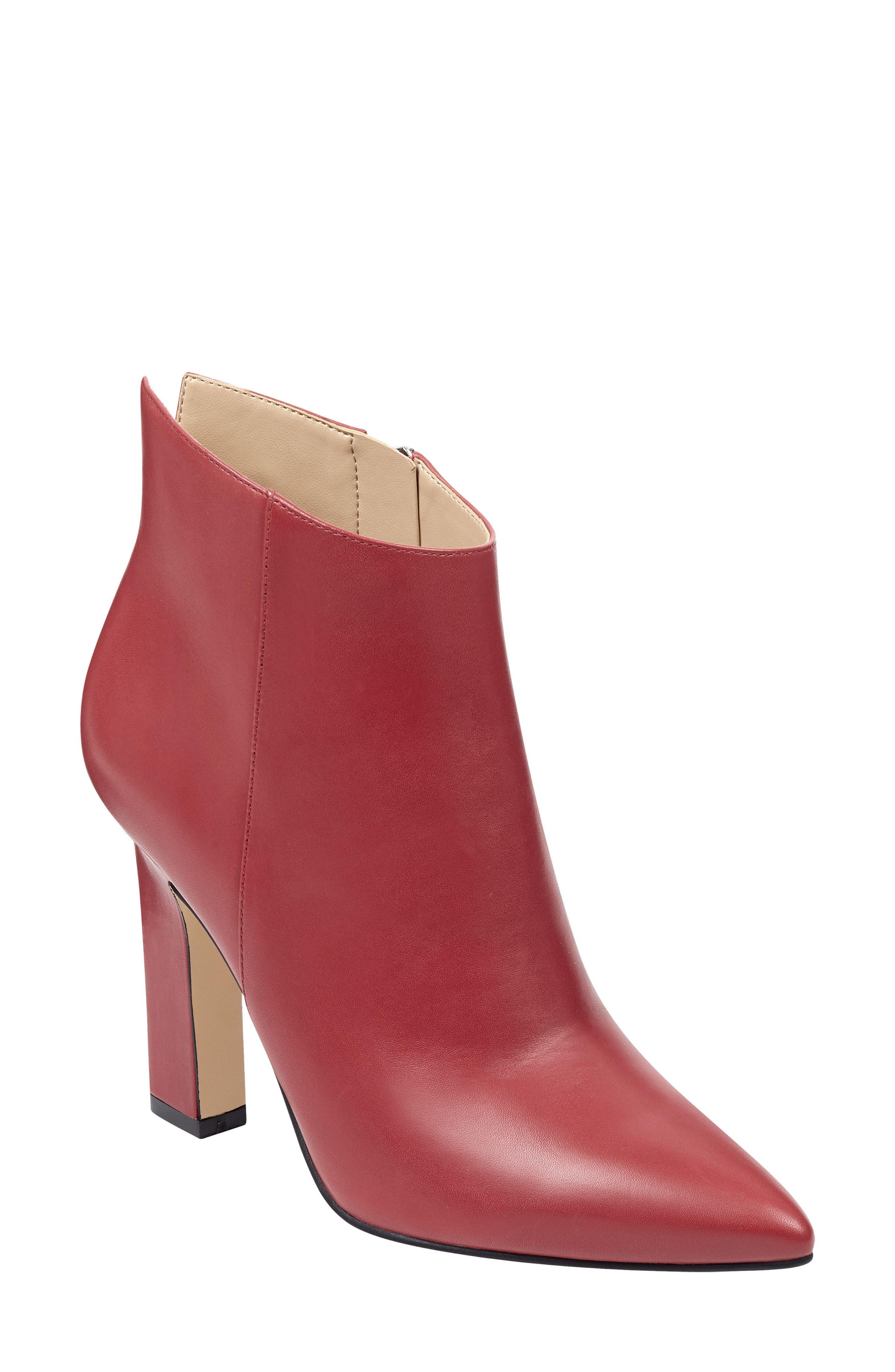 Marc Fisher Ltd Mella Bootie- Red