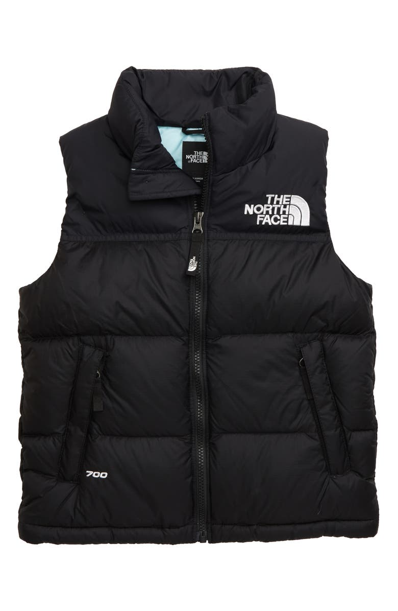 THE NORTH FACE 1996 Retro Nuptse 700-Fill-Power Down Vest, Main, color, TNF BLACK/ WINDMILL BLUE