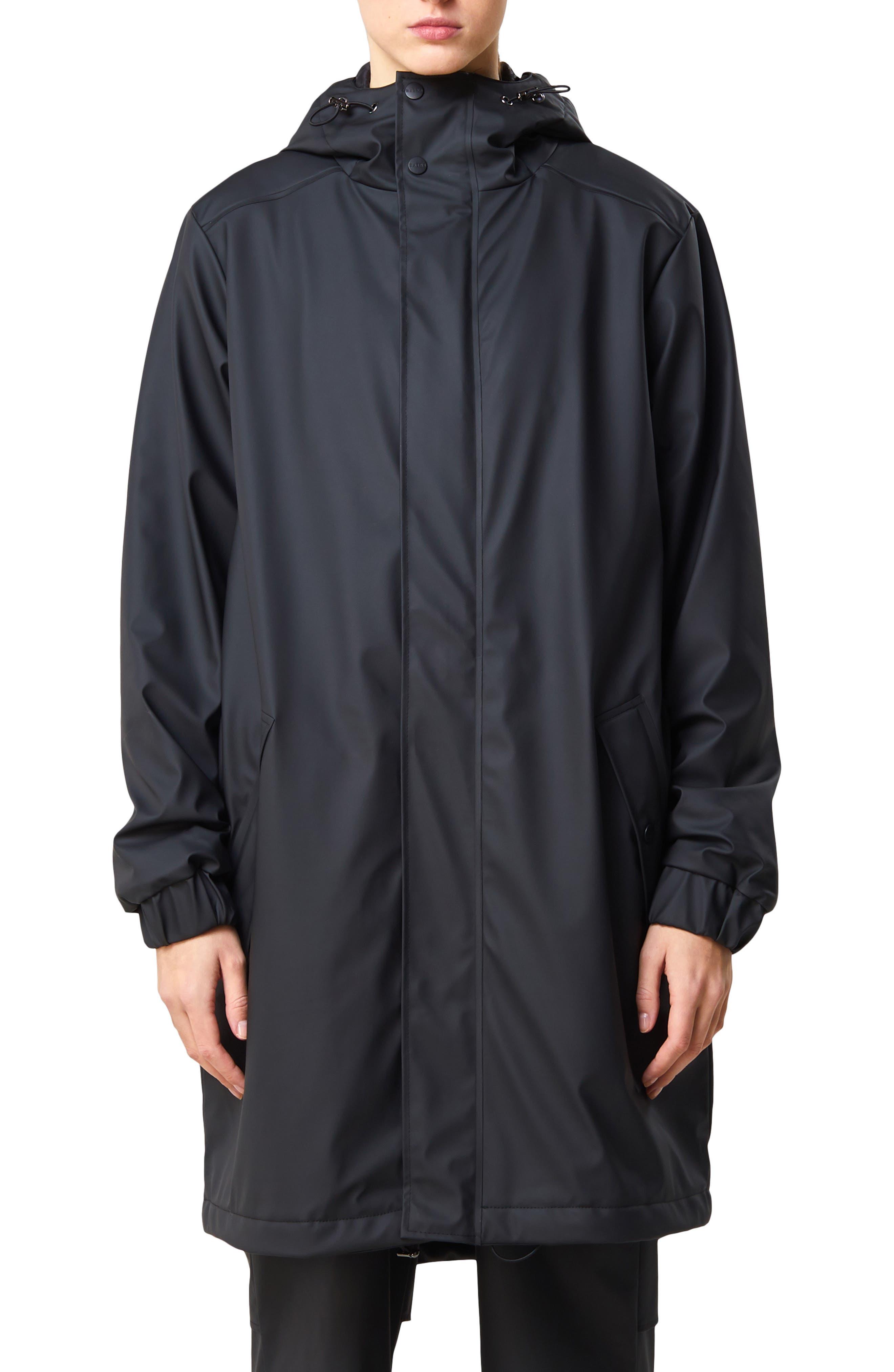Image of Rains Waterproof Hooded Quilted Jacket