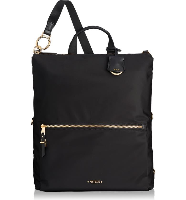 TUMI Voyageur Jena Nylon Convertible Backpack, Main, color, BLACK