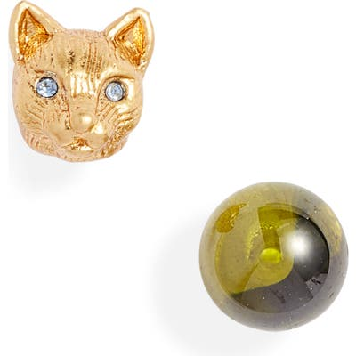 Kate Spade New York House Cat Mismatched Stud Earrings