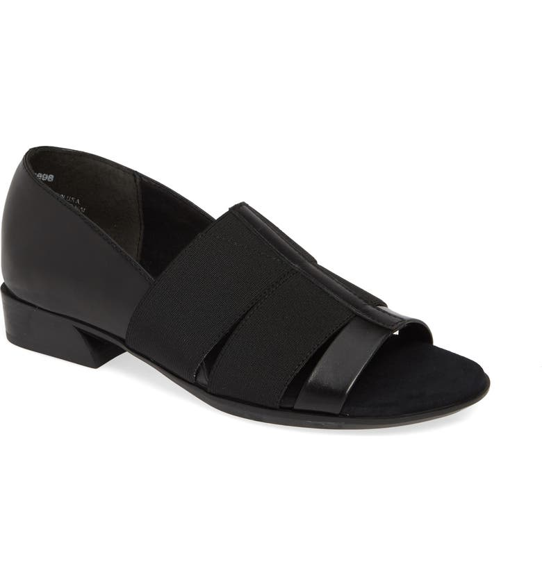 MUNRO Naomi Slip-On Sandal, Main, color, BLACK COMBO LEATHER