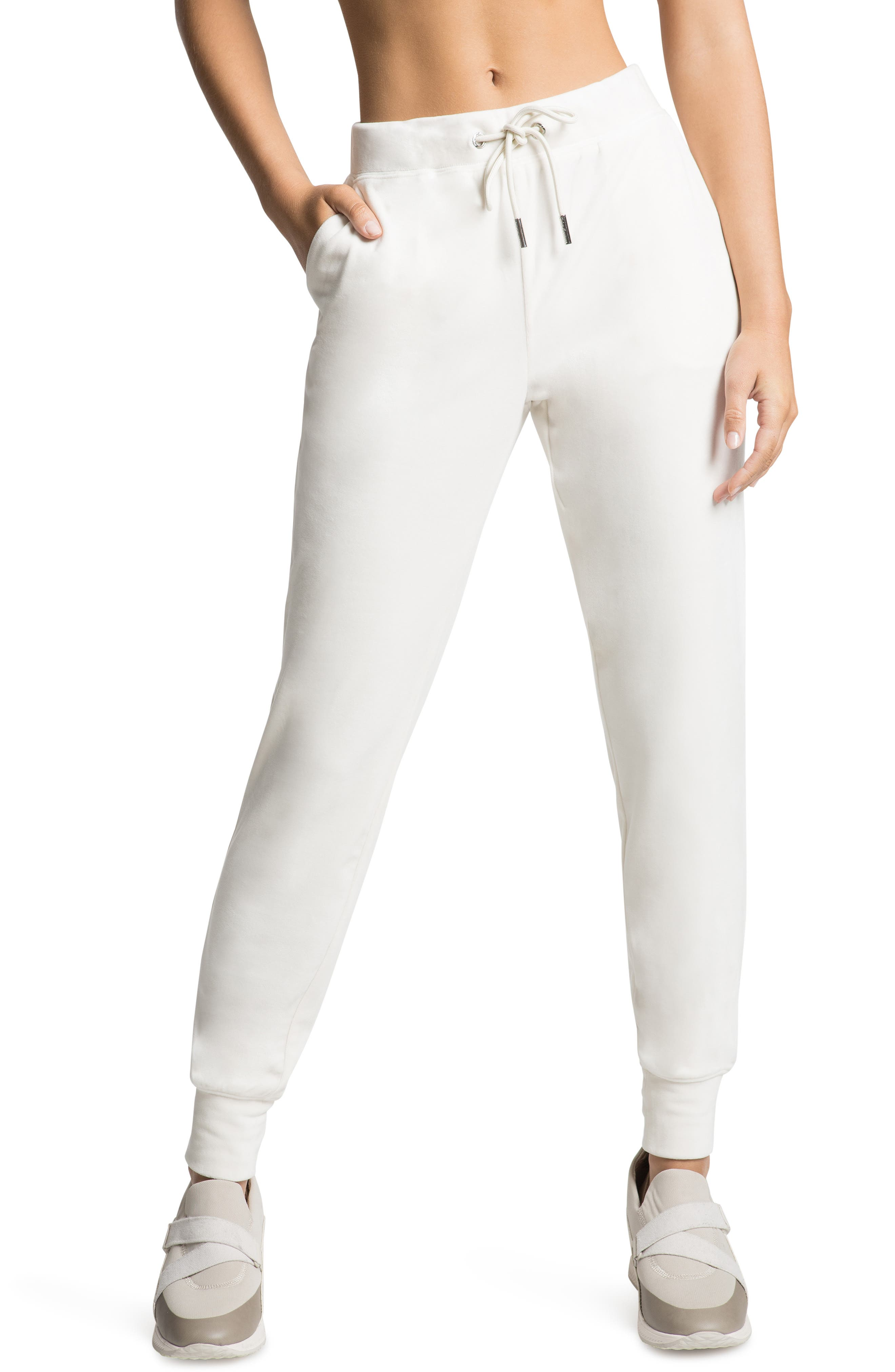 Women's Juicy Coutour Embellished Velour Joggers