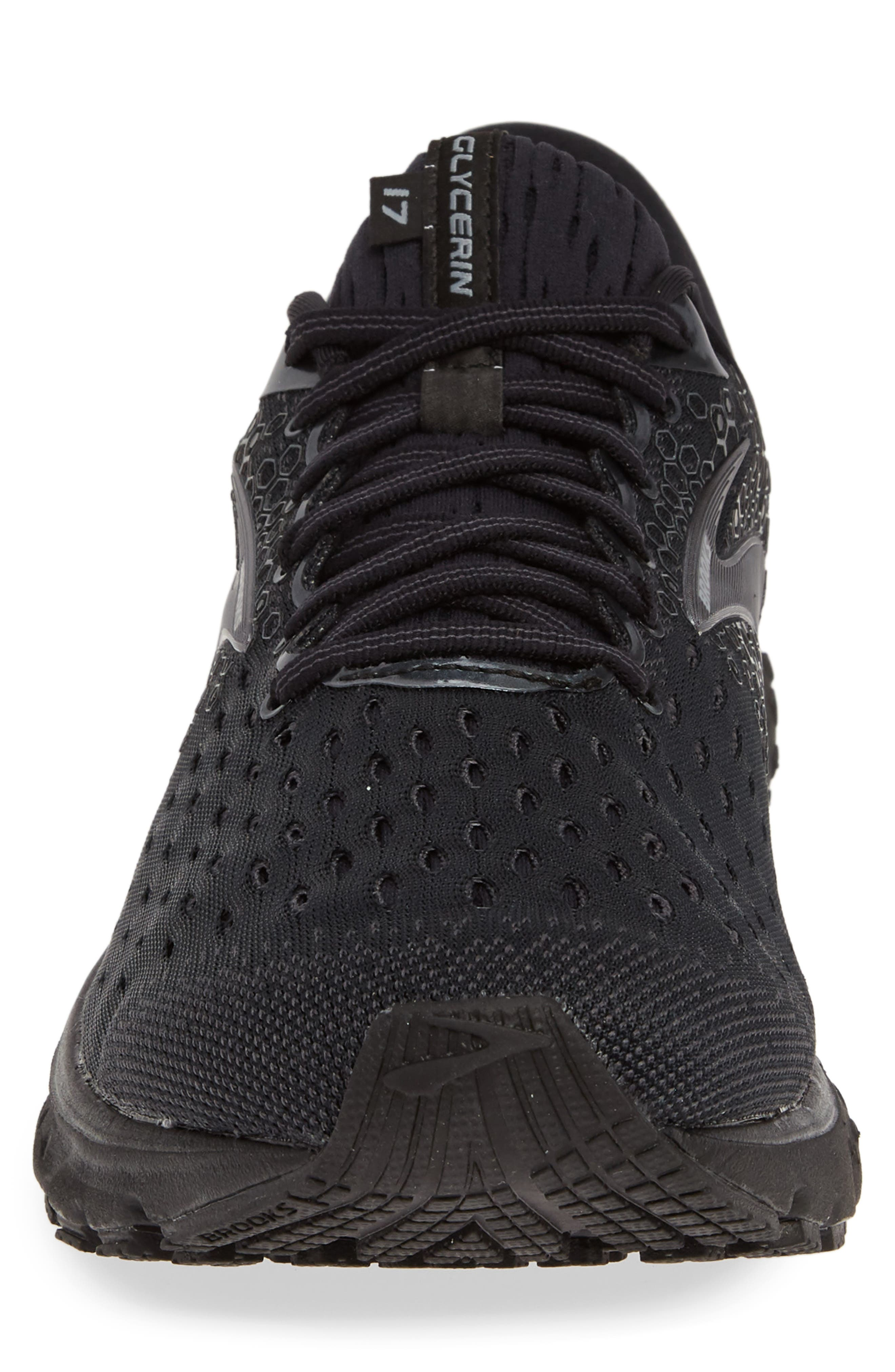 ,                             Glycerin 17 Running Shoe,                             Alternate thumbnail 4, color,                             BLACK/ EBONY