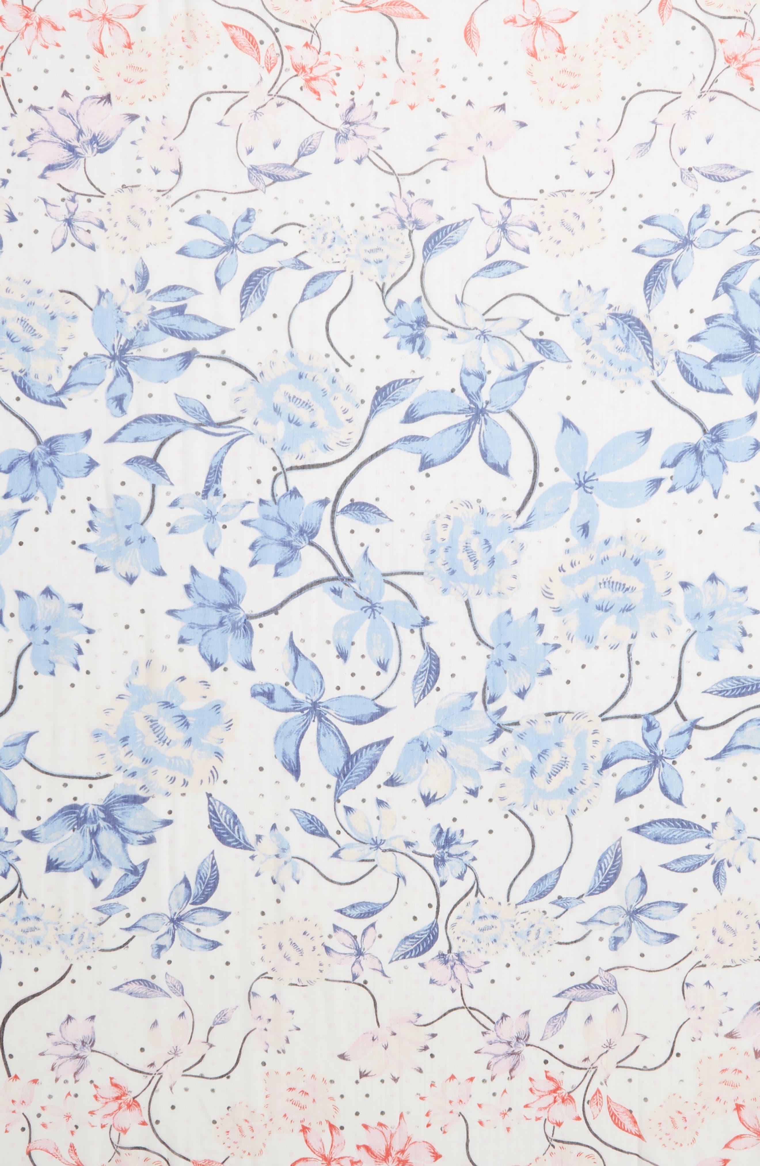 ,                             Print Modal & Silk Scarf,                             Alternate thumbnail 4, color,                             BLUE BLOOM BURST