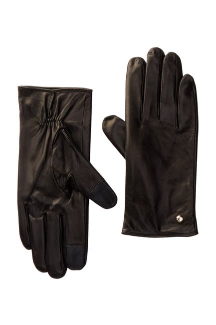 Image of kate spade new york genuine leather gloves