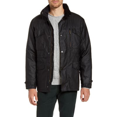 Barbour Sapper Regular Fit Weatherproof Waxed Cotton Jacket, Black