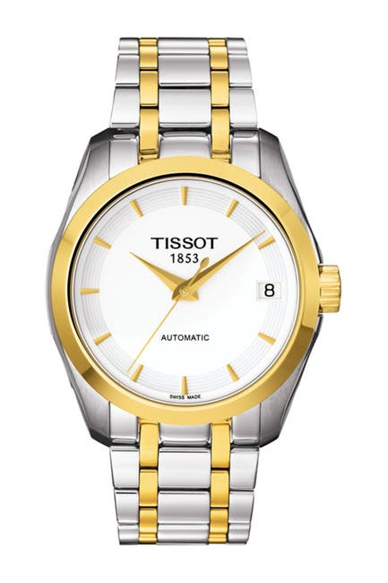 Image of Tissot Women's Couturier Swiss Automatic Two-Tone Bracelet Watch, 32mm