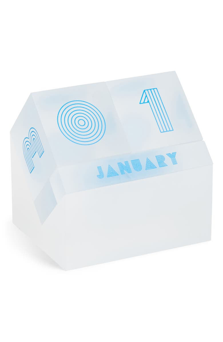 POKETO Lucite<sup>®</sup> Perpetual Block Calendar, Main, color, FROSTED