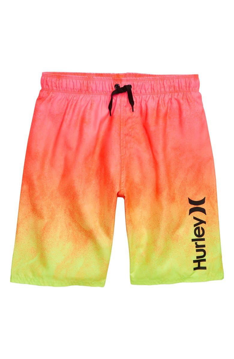 HURLEY Gradient Swim Trunks, Main, color, HYPER PINK