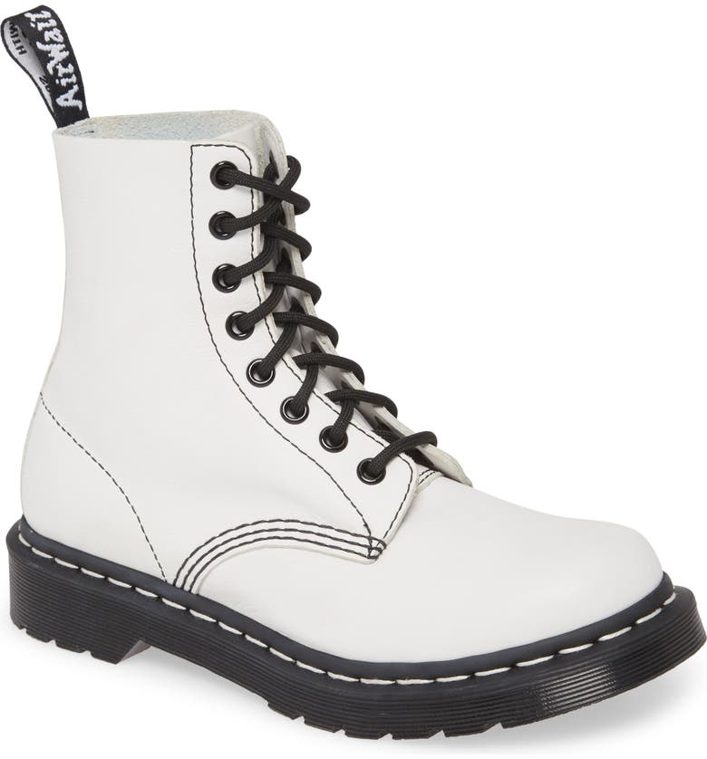 DR. MARTENS 'Pascal' Boot, Main, color, WHITE/ BLACK VIRGINIA