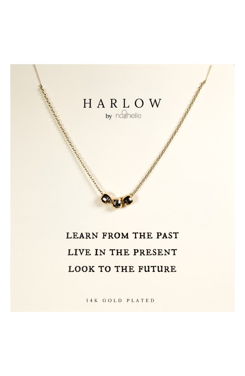 NASHELLE HARLOW by Nashelle Past, Present & Future Boxed Necklace, Main, color, GOLD