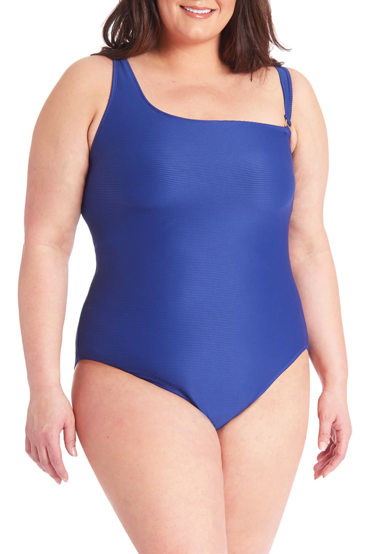Image of Rachel Roy Ribbed One-Piece Swimsuit