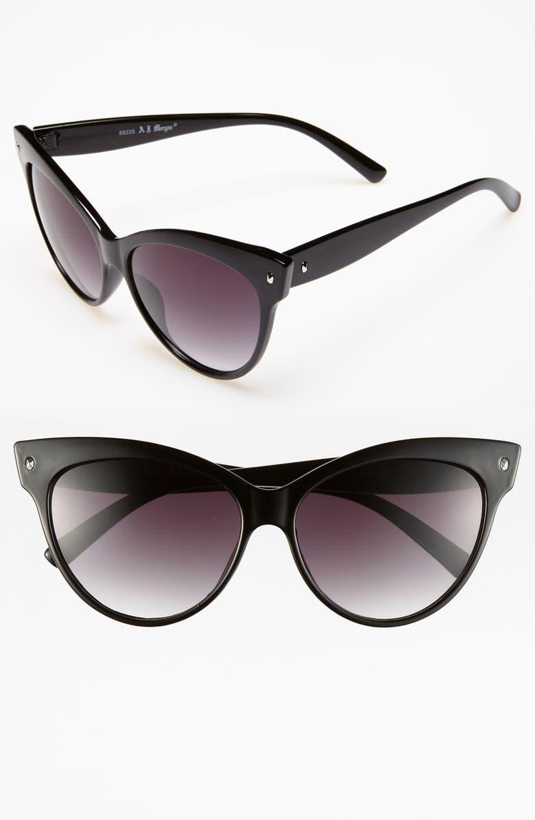 A.J. MORGAN 58mm 'Contessa' Sunglasses, Main, color, 001