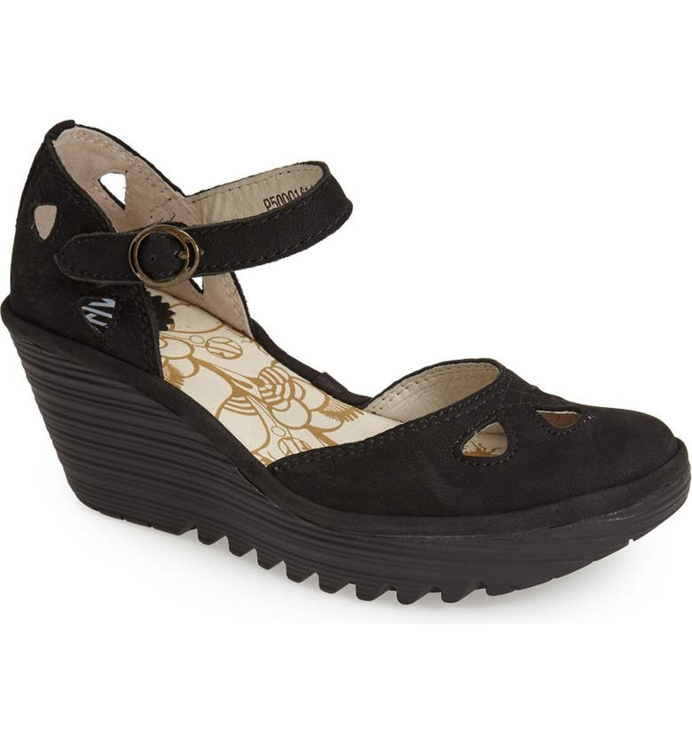 d824132c1a99a Fly London 'Yuna' Leather Ankle Strap Wedge Sandal (Women)   Nordstrom