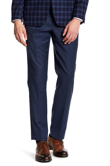 "Image of Original Penguin Grey Sharkskin Flat Front Suit Separates Pants - 30-34"" Inseam"