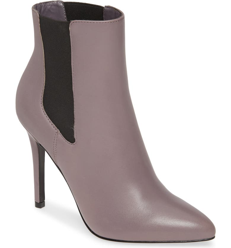 CHARLES BY CHARLES DAVID Panama Pointy Toe Bootie, Main, color, LIGHT GREY LEATHER