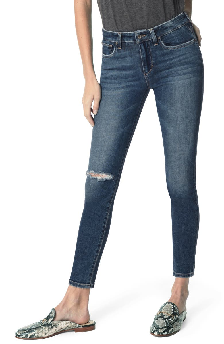 JOE'S Icon Ripped Ankle Skinny Jeans, Main, color, 426