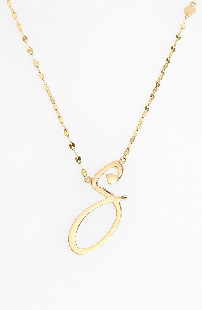 LANA JEWELRY 'Spellbound' Initial Pendant Necklace, Main, color, 710