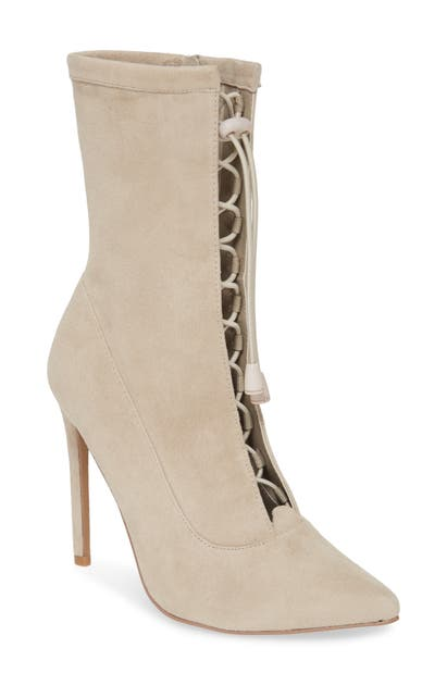 Steve Madden Shanti Bootie In Taupe Suede