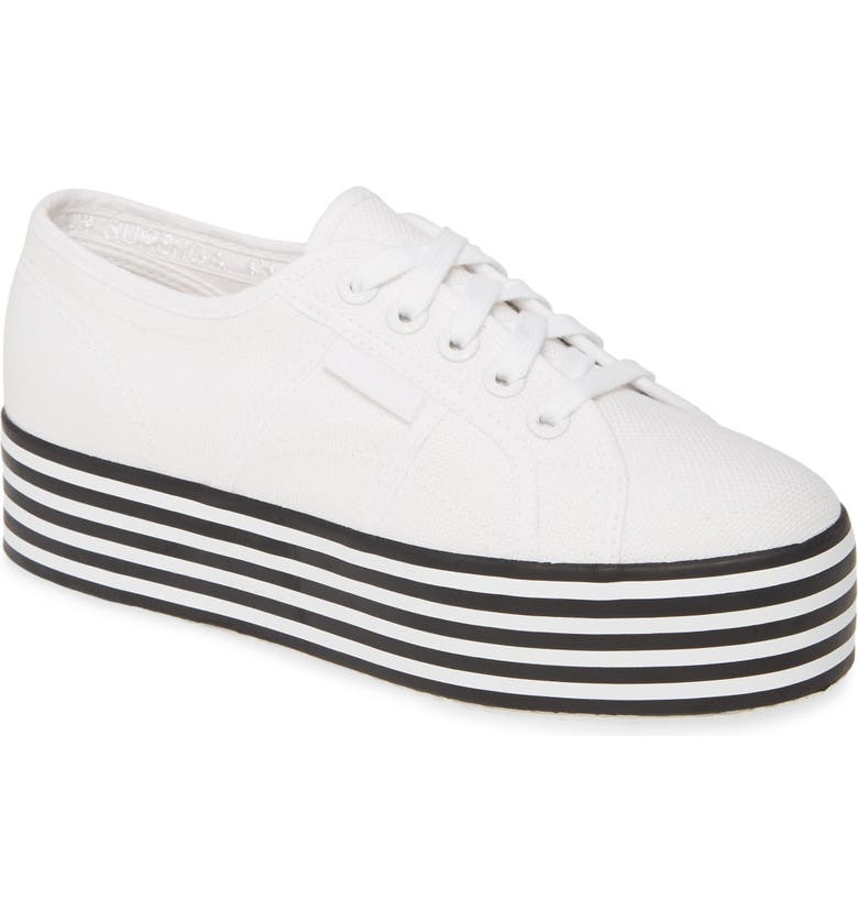 SUPERGA 2790 Platform Sneaker, Main, color, BLACK / WHITE
