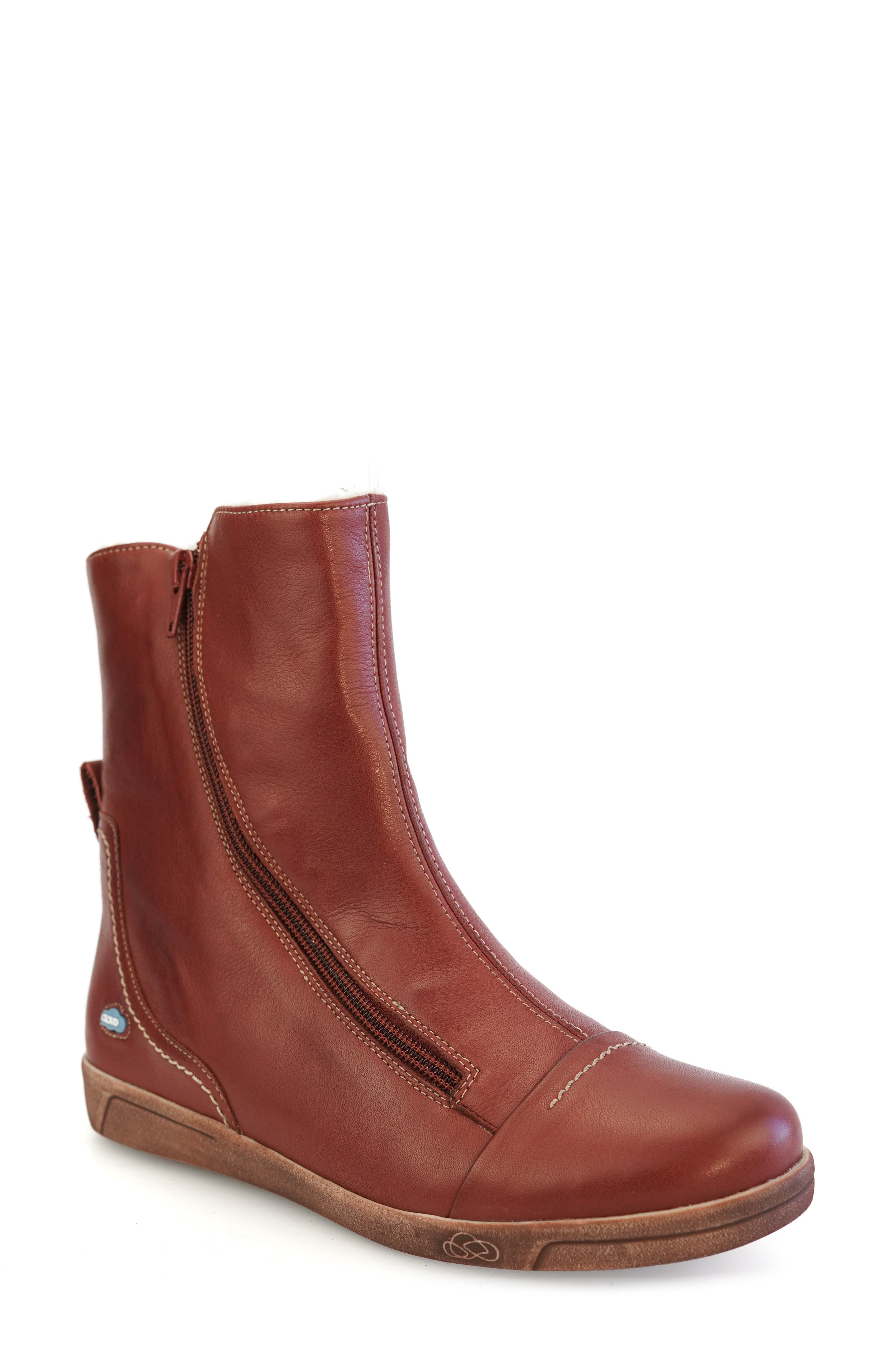 Afaya Water Resistant Wool Lined Leather Boot