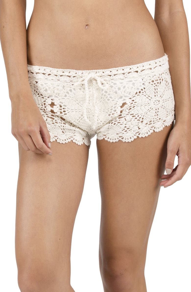 Volcom Dwell Crochet Cover Up Shorts Nordstrom